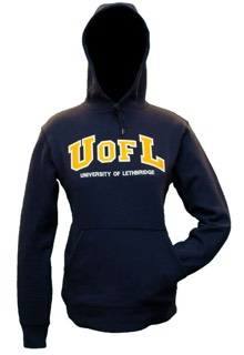 Mens navy UofL Blue and Gold Hoodie