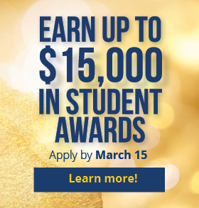 Earn up to $1500 in student awards