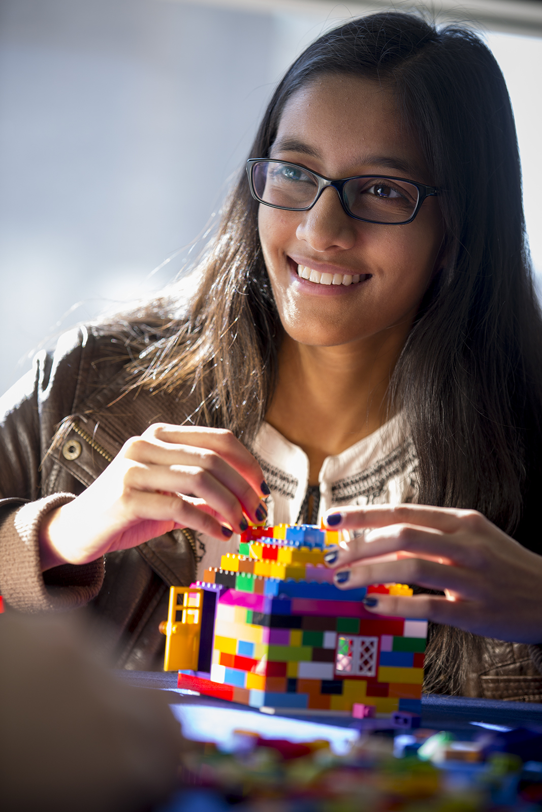 Student with Lego