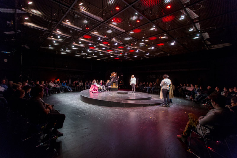 circular performance in black box theatre