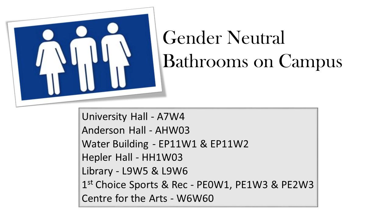 Gender Neutral Bathrooms University Of Lethbridge