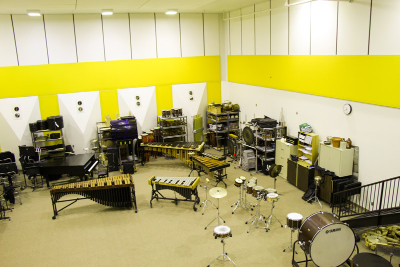 band rehearsal room