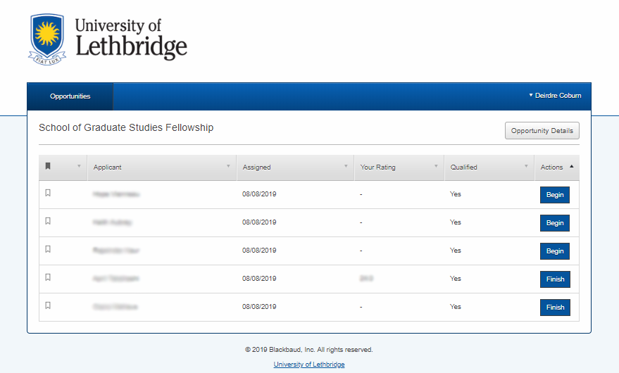 School of Graduate Studies Fellowship