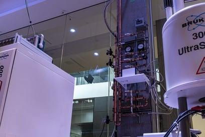 NMR Helium recovery Plumbing System