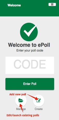 ePoll - Create/Manage
