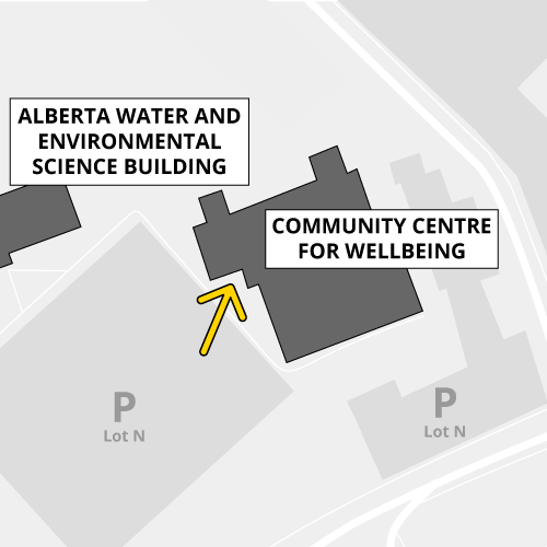 The Community Centre for Wellbeing is accessible by proximity card only