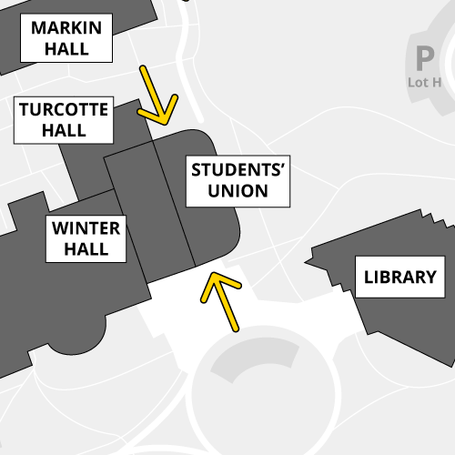 Level 2 entrances of the Students Union Building are open during certain hours