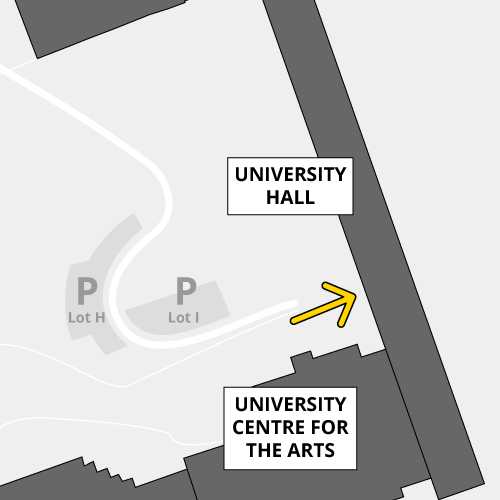 University Hall is accessible by key only, at the B4 entrance