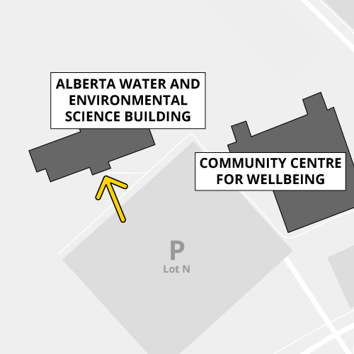 Access the Alberta Water and Environmental Science building through the front doors, proximity card only