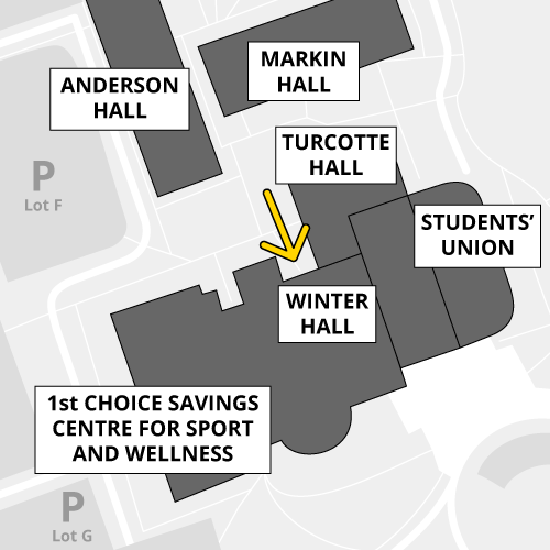 Winter Hall is accessible by proximity card only