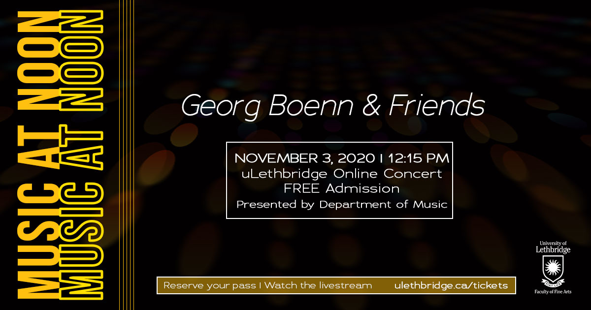 Music at Noon presents Georg Boenn and Friends