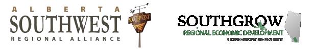 Alberta Southwest Regional Alliance & Southgrow Regional Economic Development Logos