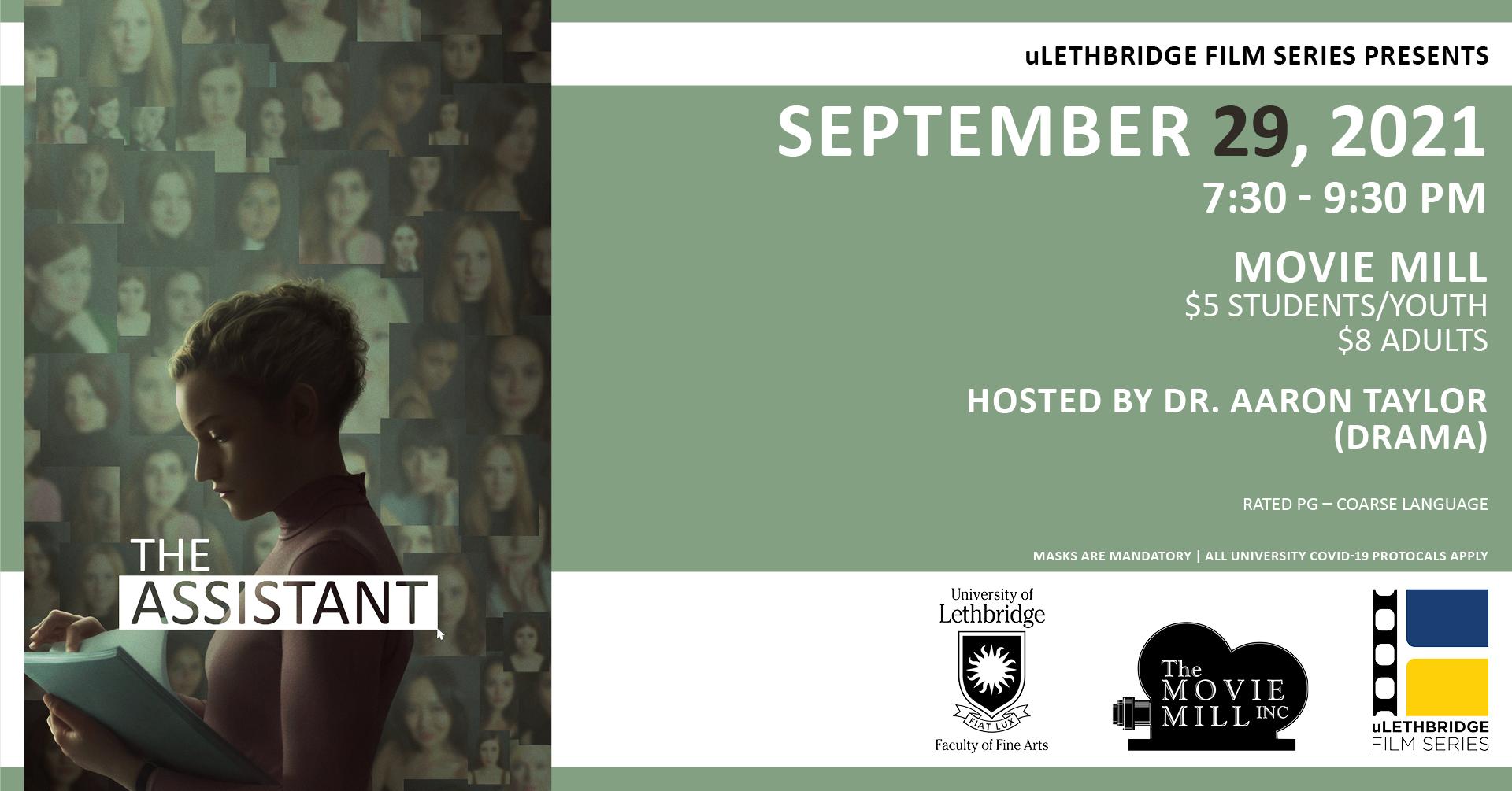 uLethbridge Film Series presents The Assistant.