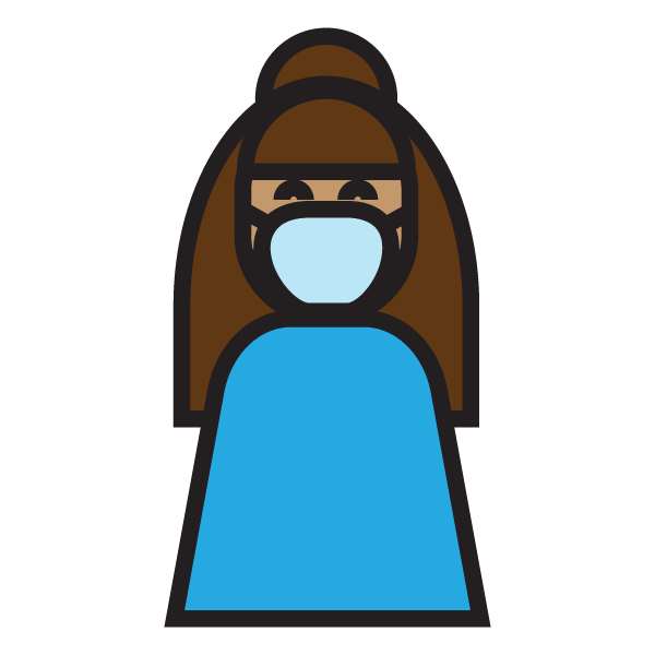 Icon of person wearing mask