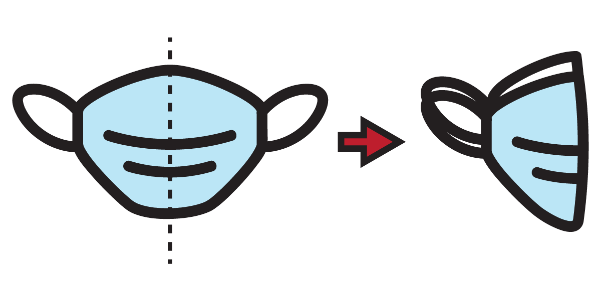 Icon of mask folded in half