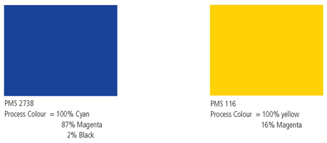 The PMS Number For Pantone Ink Printing Is 116 Equivalent Four Colour Process CMYK Yellow