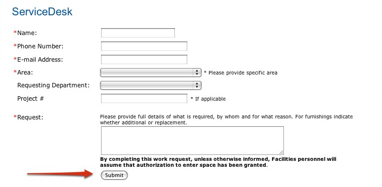 Work Request Instructions  University Of Lethbridge