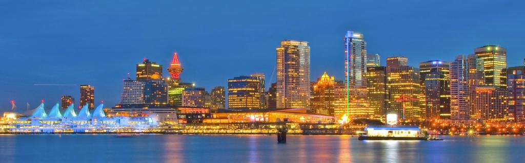 Vancouver skyline night