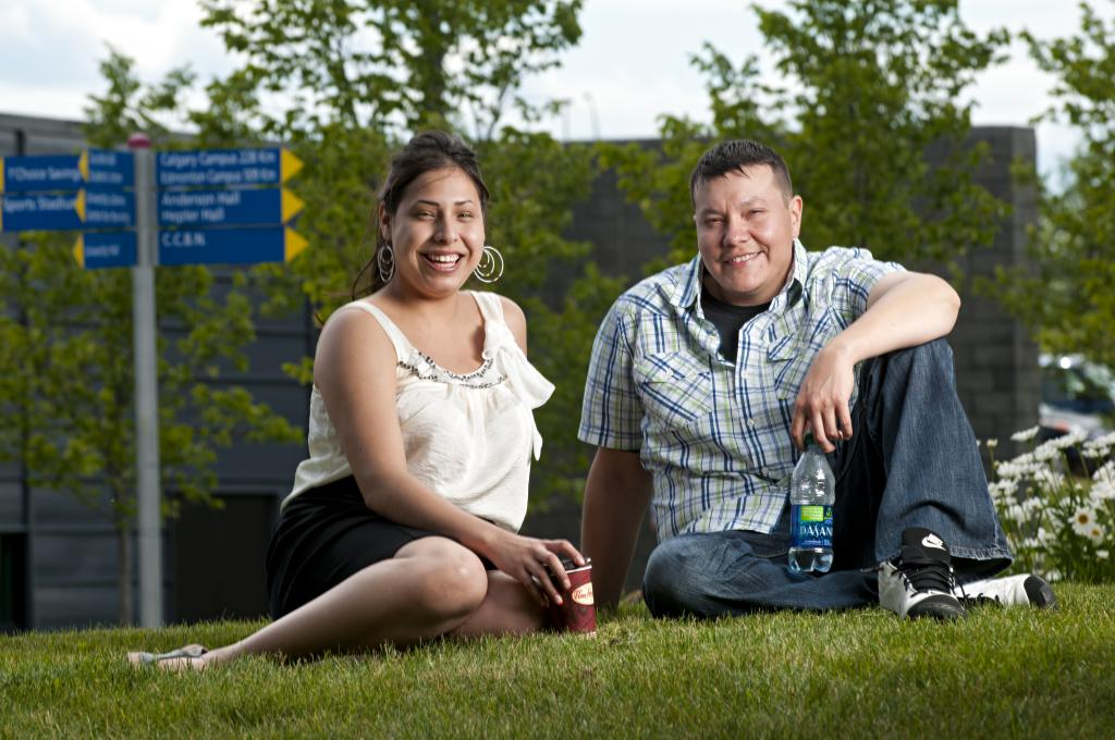 FNMI students on grass