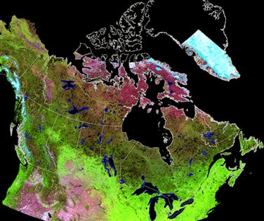 Canada 1km, 10 day, SPOT/VEGETATION composite (1998-2004) (produced by NRCan)