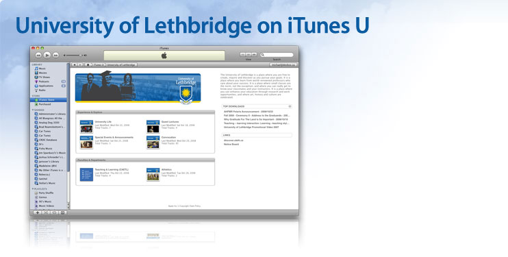 University of Lethbridge on iTunes U