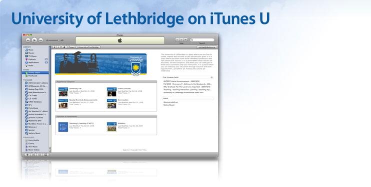 University of Lethbridge on iTunes U