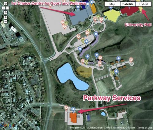 Campus Map University Of Lethbridge