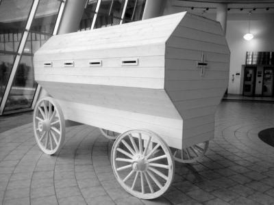 Image of wooden wagon