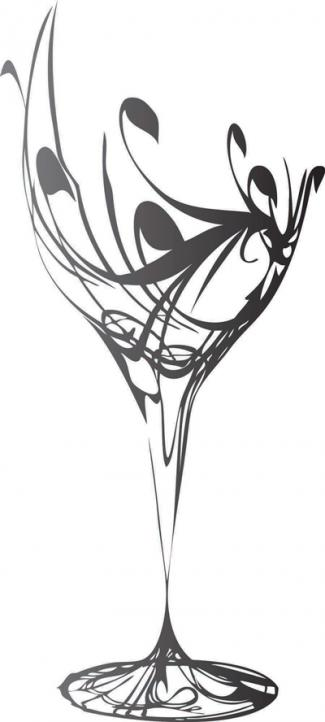 drawing of wine glass
