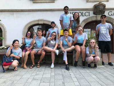 Hungary Work study 2018 group