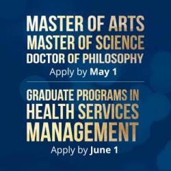 Promoting Graduate Studies Apply by May 1