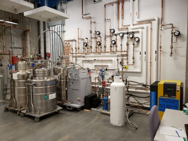 NMR Magnet Helium Recovery System