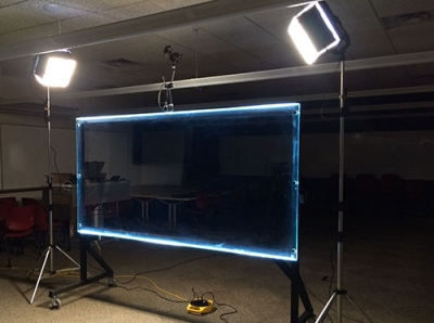 Lightboard ready for use
