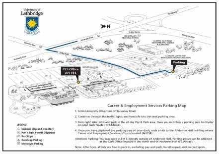 Campus Maps University of Lethbridge
