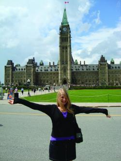 Co-operative Education & Internship Holly at Parliament