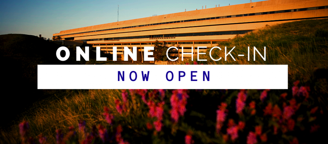 Online Check-In is now open