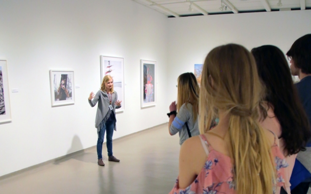 Group getting tour of the Art Gallery