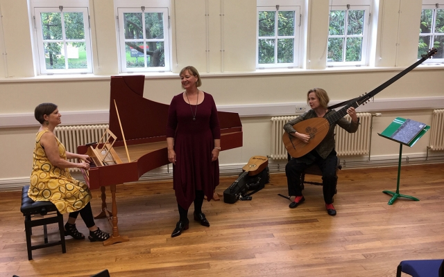 Janet Youngdahl performs with Vivan Montgomery and Liz Kenny