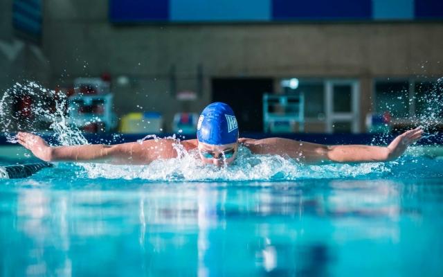 Student swimming athlete