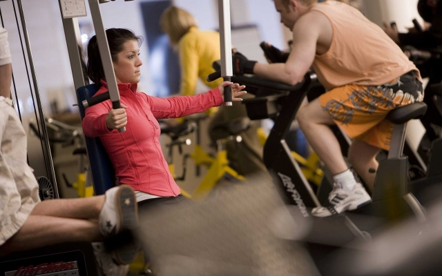 People working out in the fitness centre