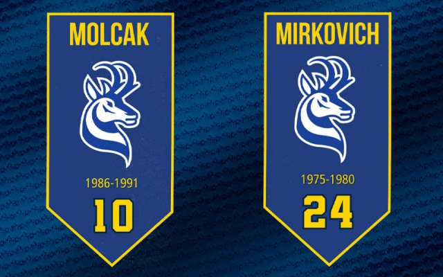 Graphic of retired jersey banners
