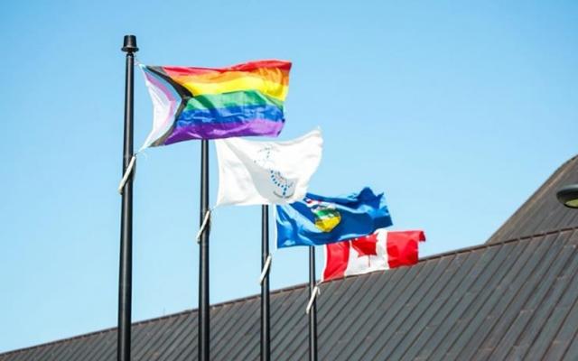 Pride Flag flying