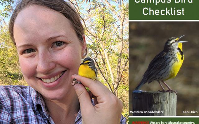 Samantha Krause with bird