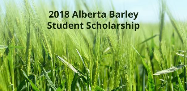 Alberta Barley Scholarship FMA