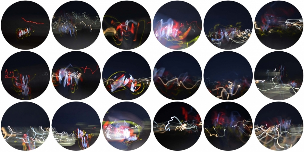 Vicky Chiasson, Reflective tape experiments (2020)