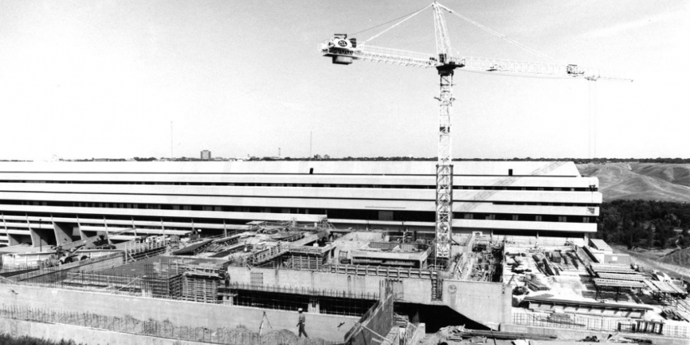 Fine Arts building under construction