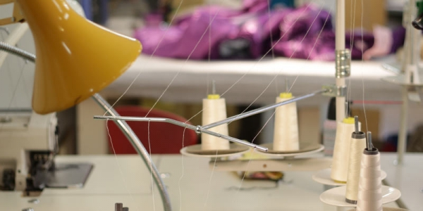 close image of sewing machine