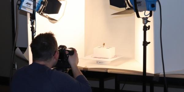 Tyler Heaton taking photo to create 3D image