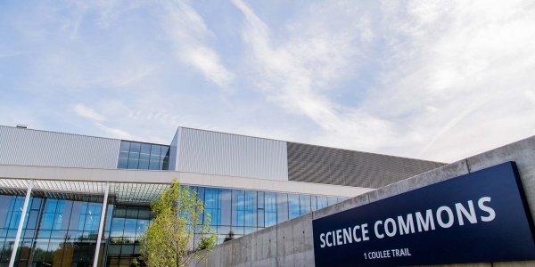 Science Commons building sign