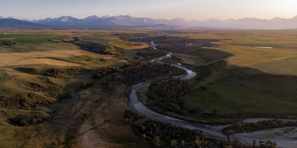 Waterton National Park drone image